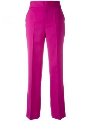 Брюки прямого кроя Ports 1961. Цвет: розовый и фиолетовый