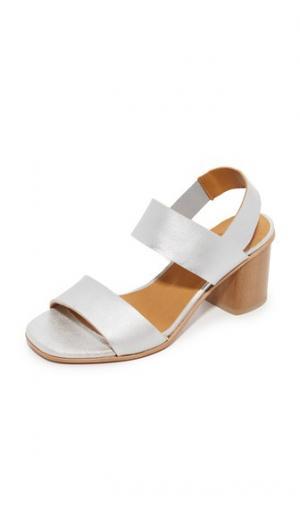 Металлизированные сандалии Bask Coclico Shoes. Цвет: голубой