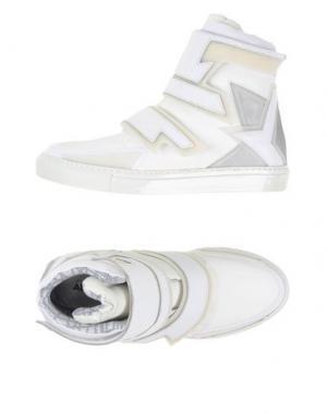 Высокие кеды и кроссовки ALBERTO PREMI. Цвет: белый