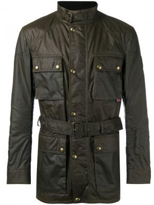 Wax belted jacket Belstaff. Цвет: зелёный