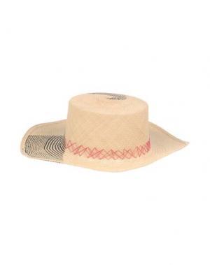 Головной убор VALDEZ PANAMA HATS. Цвет: бежевый