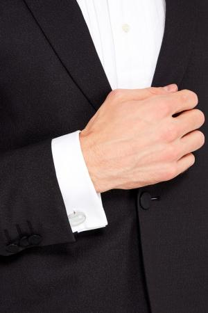 Стальные запонки с белой вставкой Canali. Цвет: серый