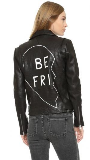 Куртка Jayne с надписью «Best Friends» VEDA. Цвет: голубой