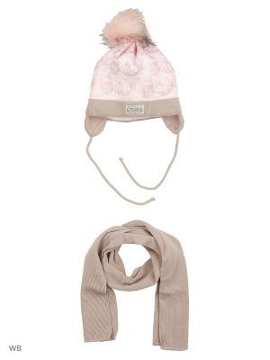 Комплект Grans. Цвет: бежевый, бледно-розовый