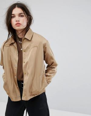 Stussy Спортивная куртка Temper. Цвет: бежевый