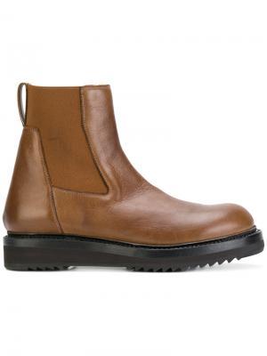 Ботинки челси на утолщенной подошве Rick Owens. Цвет: коричневый