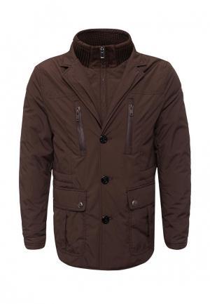 Куртка утепленная ROLF KASSEL. Цвет: коричневый