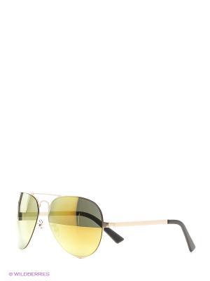 Солнцезащитные очки Vita pelle. Цвет: золотистый