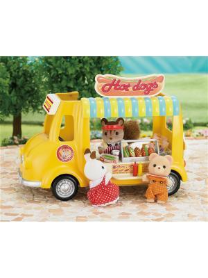 Набор Фургон с хот-догами Sylvanian Families. Цвет: белый, желтый