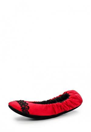 Тапочки Petit Pas. Цвет: красный