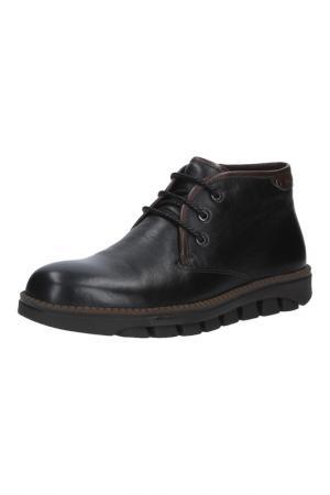 Ботинки на молнии и шнурках MARIO PONTI. Цвет: черный
