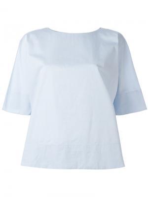 Блузка со складкой на спине Alberto Biani. Цвет: синий