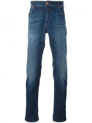 Зауженные джинсы с отворотами Closed. Цвет: синий