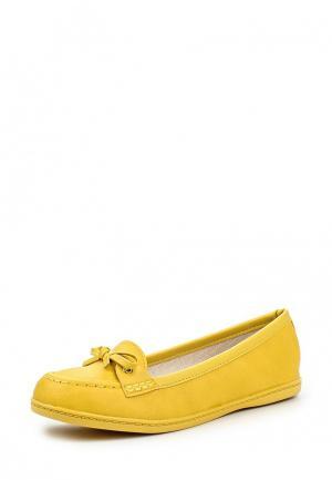 Мокасины Moleca. Цвет: желтый