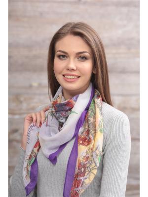Платок FOMAS. Цвет: фиолетовый, терракотовый