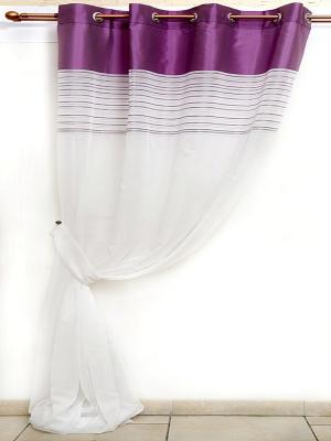 Тюль DAILY by TOGAS. Цвет: молочный, фиолетовый