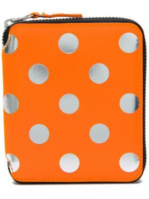 Кошелек в горох Comme Des Garçons Wallet. Цвет: жёлтый и оранжевый