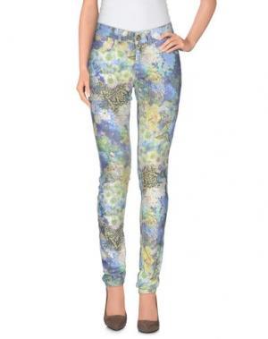 Повседневные брюки MAISON ESPIN. Цвет: синий