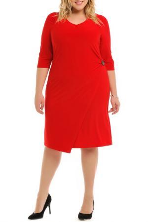 Платье с брошью Svesta. Цвет: красный