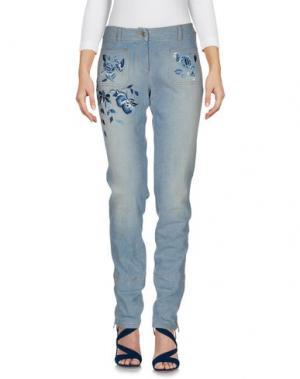Джинсовые брюки CHRISTIAN DIOR BOUTIQUE. Цвет: синий