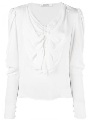 Блузка с рюшами спереди Rodarte. Цвет: белый