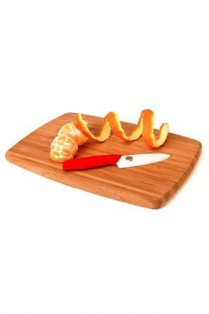 Нож для чистки 115 мм Supra. Цвет: белый, красный