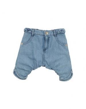 Джинсовые брюки AMORE. Цвет: синий