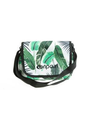 Сумка PALM ISLAND SHOULDER BAG Rip Curl. Цвет: белый, зеленый