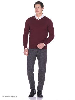 Пуловер Boston Brothers. Цвет: бордовый