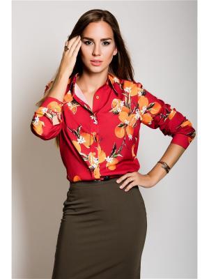 Блуза-рубашка MoNaMod New Look. Цвет: зеленый, темно-зеленый, оливковый, темно-красный, светло-оранжевый, золотистый, кремовый, желтый