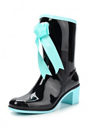 Резиновые полусапоги Boomboots. Цвет: черный
