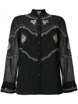Блузка с рисунком Vilshenko. Цвет: чёрный