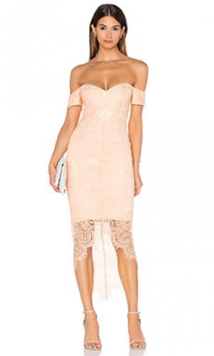 Платье миди jennifer Elle Zeitoune. Цвет: персиковый
