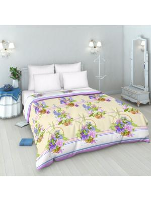 Комплект постельного белья из бязи Евро Василиса. Цвет: бежевый, сиреневый