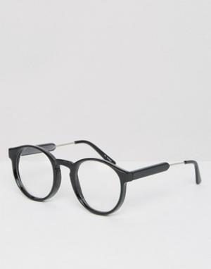 Spitfire Круглые очки. Цвет: черный