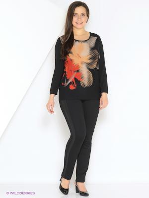 Блузка СТиКО. Цвет: черный, бежевый, красный