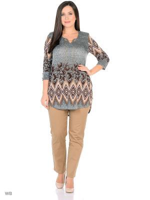 Туника, модель Индия Dorothy's Нome. Цвет: серый, белый, коричневый