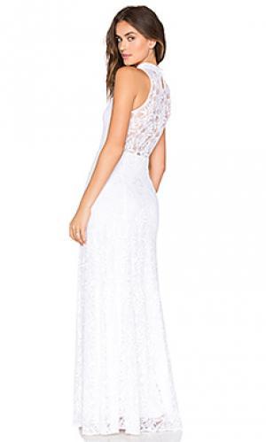 Кружевное вечернее платье jungle Nightcap. Цвет: белый