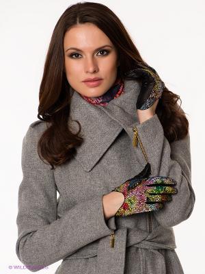 Перчатки Eleganse. Цвет: зеленый, розовый