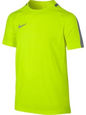 Футболка Y NK DRY SQD TOP SS DN Nike. Цвет: салатовый