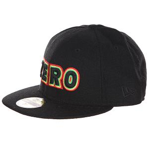 Бейсболка New Era  Bold Black Zero. Цвет: черный