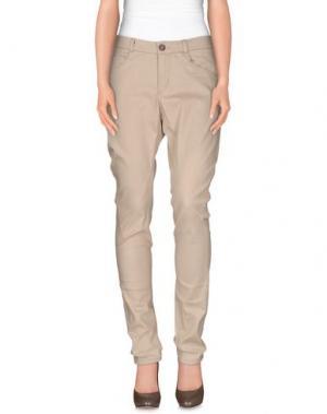 Повседневные брюки MICHIKO KOSHINO. Цвет: бежевый