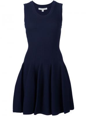 Платье мини без рукавов Jonathan Simkhai. Цвет: синий