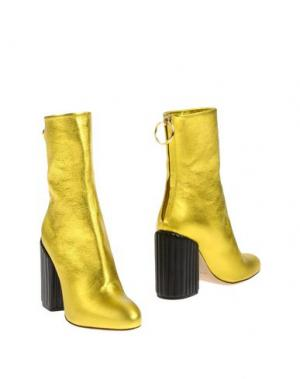 Полусапоги и высокие ботинки PETAR PETROV. Цвет: желтый