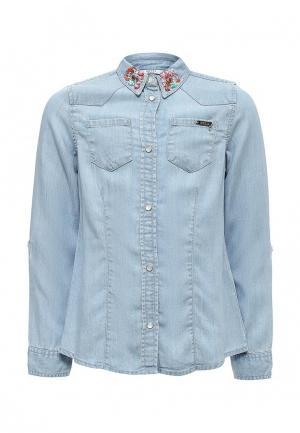 Рубашка джинсовая Guess. Цвет: голубой