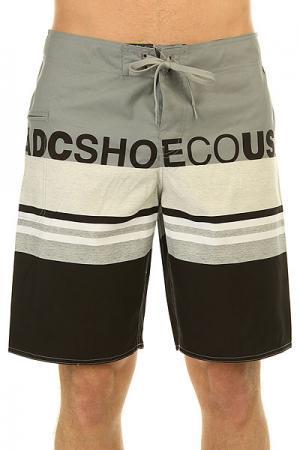 Шорты пляжные DC Dogdays 20 Monument Shoes. Цвет: серый,черный