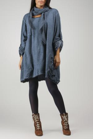 Платье La Fille de Couturier. Цвет: синий