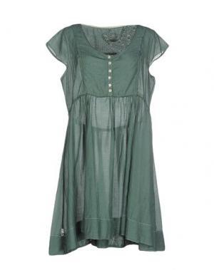 Короткое платье BY TI MO. Цвет: зеленый