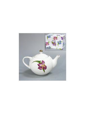 Чайник Гиацинт 1200 мл BRISWILD. Цвет: белый