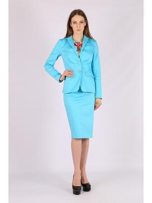 Пиджак FLEURETTA. Цвет: бирюзовый